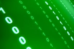 Green data space. Abstract background Royalty Free Stock Photo