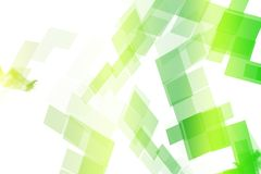 Green Data Tech Blocks Royalty Free Stock Photos