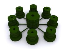 Green database Stock Images