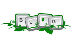 Green day blogging. Illustration inspired by the bloggers action against the global warming Royalty Free Stock Photo