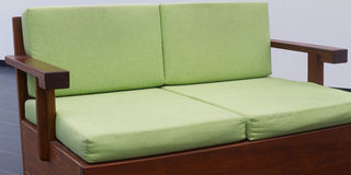 Green daybed couch Royalty Free Stock Image