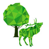A green deer Royalty Free Stock Photography