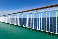 Green deck of a passenger ship Royalty Free Stock Photography