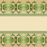 Green decoration on beige background. Stock Image