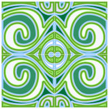 Green Decoration Pattern Stock Photo