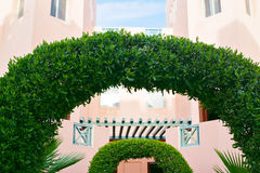 Green decorative Arch of plants Stock Photo