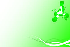 Green Decorative Background Stock Photography