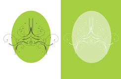 A green decorative brochure Royalty Free Stock Image
