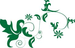 Green decorative design Stock Photos