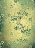 Green decorative floral background Royalty Free Stock Photo