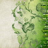Green decorative floral background Royalty Free Stock Photos