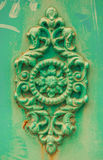Green decorative moulding rose royalty free stock images