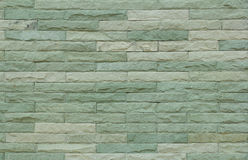 Green decorative stone wall texture background Royalty Free Stock Photos