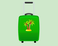 Green Decorative Suitcase Backround. Green Decorative Suitcase and Holiday Backround Stock Photography