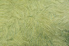 Green Decorative textured wallpaper. As a background Stock Photography
