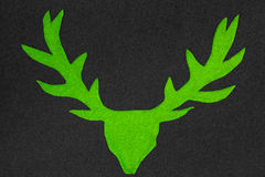 Green deer with antler Royalty Free Stock Photography
