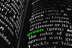 Green Defined on Black Stock Images