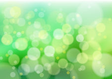 Green defocus lights. Defocused creative abstract green lights. Vector background Royalty Free Stock Photo