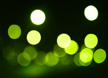 Green defocused spots Stock Photography