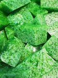 Green delicious desserts. Green jelly delicious desserts royalty free stock photography