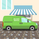 Green delivery Van Stock Image