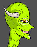 Green demon Stock Image
