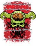 Green demon vector illustration