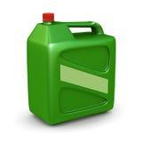 Green den plastic kanistern Royaltyfri Fotografi