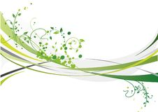Green design. With floral elements Royalty Free Stock Image
