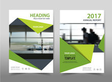Green design on background.Brochure template layout, Stock Image