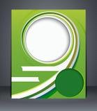 Green design brochure, magazine cover Stock Image