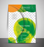 Green design business corporate print template Royalty Free Stock Photography