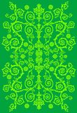 Green design with curled foliage Stock Image
