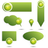 Green design elements Royalty Free Stock Images