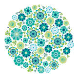 Green design - Flower circle. Stock Images