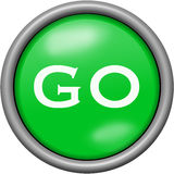 Green design go in round 3D button. Green design go in 3D button Stock Image