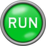 Green design run in round 3D button. Green design run in 3D button Royalty Free Stock Photos
