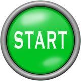 Green design start in round 3D button. Green design start in 3D button Stock Image