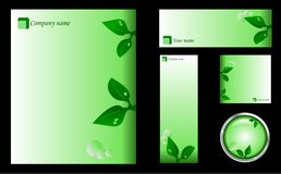 Green Design Template, Card, Icon and Button Set Royalty Free Stock Image