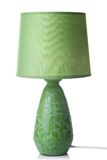 Green desk lamp isolated. On white Royalty Free Stock Photography