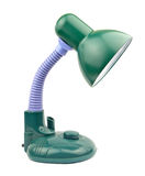 Green desk lamp Stock Photos