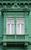 green det gammala fönstret Arkivbild