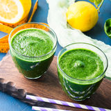 Green detox smoothie for diet Stock Images