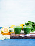 Green detox smoothie for diet Royalty Free Stock Image