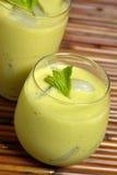 Green Devil. Avocado smoothie stock photos