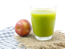 Green devil avocado smoothie Royalty Free Stock Photography