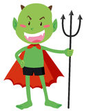 Green devil with a trident Royalty Free Stock Photos