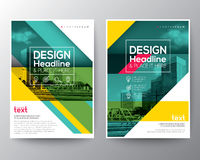 Green diagonal line Brochure annual report cover Flyer Poster Banner. Design Layout vector template in A4 size royalty free illustration