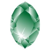 Green diamond against white Royalty Free Stock Photo