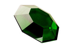 Green diamond isolated Stock Photography